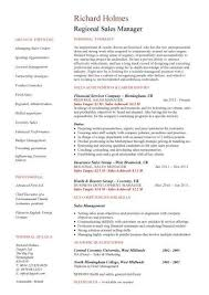 Sales Manager Resume Samples Luxury Regional 95 On Professional With