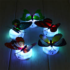 1pcs flashing colorful erfly night light babykid room lighting room cute