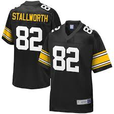 Black John Pittsburgh Jersey Steelers Stallworth Men's Nfl Pro Retired Player Line
