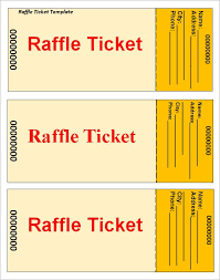 Fundraiser Ticket Template Free Download Classy RaffleTicketTemplate Printable Templates Pinte