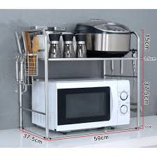 Amazoncom Yyhsnd Stainless Steel Kitchen Microwave Oven Shelf 2