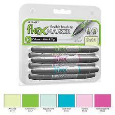Details About Letraset Flexmarker 6 Pen Set Set 4 Flex Markers