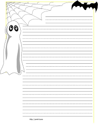 Primary Letter Writing Paper Halloween Spider On Web Primary Lined Kids Writing Paper