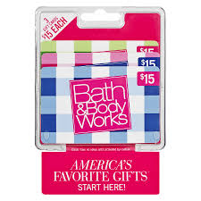 bath and body works customer service bath body works 3 pack 15 gift cards walgreens