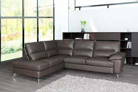 thick genuine full leather sectional sofa h6042