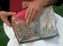 gifs secret paintings on 19th century books