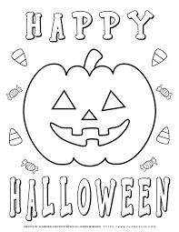 It's no secret i have a passion for coloring and creating coloring page printables. Halloween Coloring Pages Happy Halloween Planerium