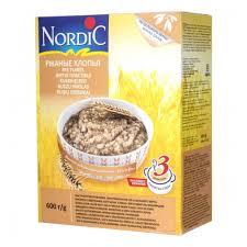 Каша безмолочная <b>Nordic</b> (Нордик) <b>ржаные хлопья</b>, 600 гр ...