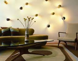 unique wall lighting. Chic Eclectic Living Room With Unique Wall Lighting As Artistic Decor Midcentury Arm Chair Contemporary Lime Green Sleeper Sofa Shape Coffee