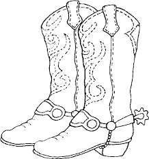 Cowboy Boots Coloring Pages Coloringstar
