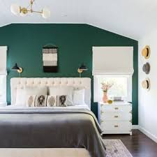 Turquoise bedroom furniture Mint Turquoise Example Of Coastal Master Dark Wood Floor Bedroom Design In Los Angeles With Green Walls Houzz 75 Most Popular Turquoise Bedroom Design Ideas For 2019 Stylish