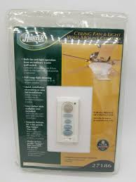 hunter model 27186 ceiling fan and light universal wall mount control
