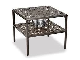 milan 26 square end cast top table
