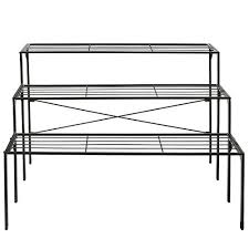 Flower Display Stand For Sale Large Modern Black Metal 100 Tier Shelf Flower Plant Display Stand 87