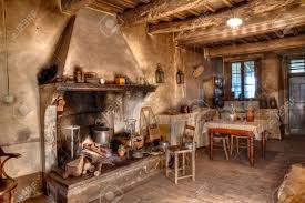 Old Country Kitchen Designs Old Times Farmhouse Interior Of An Old Country House With
