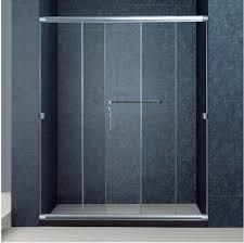 semi frameless 3 panel sliding bathroom glass doors for shower 1700 width 72