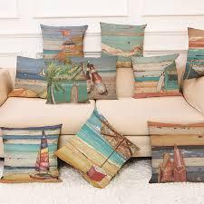 Beach Design Pillows Us 1 63 25 Off Sea Landscape Cushion Cover Summer Beach Throw Pillows Case Decorative Sofa Pillowcase Pillow Covers Home Decoration Funda Cojin In