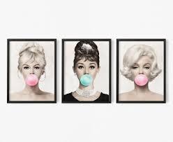 Salon Decor Marilyn Monroe Audrey Hepburn Brigitte Bardot | Etsy in 2021 |  Marilyn monroe decor, Marilyn monroe art, Marilyn monroe and audrey hepburn