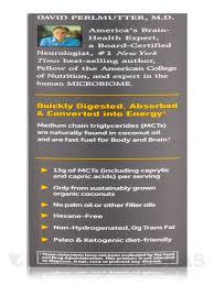 dr formulated brain health 100 organic coconut mct oil unflavored 32 fl oz 946 ml