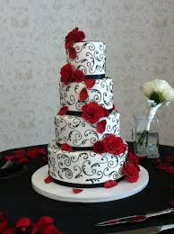 Cake Desserts Marvellous White Wedding Cake With Black Ribbon
