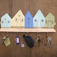 Five Beach Huts Key Holder/Hanging Decoration