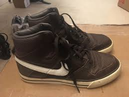 nike delta force brown leather shoes mens size 9 5 370424 211