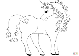 Small Picture Lovely Unicorn coloring page Free Printable Coloring Pages