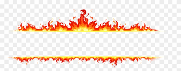 flame banner fire on white background