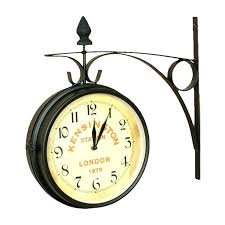 double sided outdoor clock double sided wall clock impressive two sided wall clock double sided wall