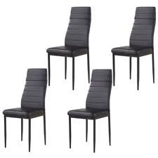 set of 4 dining chairs leather dining room furniture modern design black