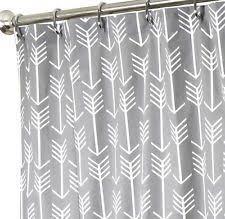 Creativity Cool Fabric Shower Curtains Long Curtain Gray Arrow Throughout Modern Design