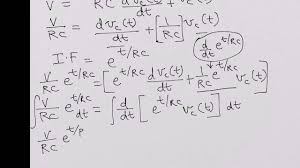 rc circuit charging transient step response solving diffeial equation
