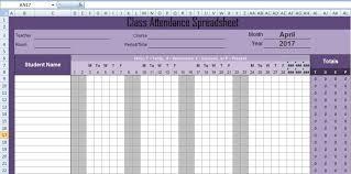 attendance spreadsheet excel latest class attendance spreadsheet templates excel excel