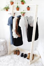 diy wooden clothing rack themerrythought