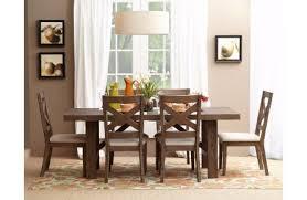 jofran hampton road 7 piece trestle dining table set in natural