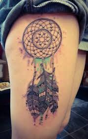 Aztec Dream Catcher Tattoo Beauteous Watercolour And Aztec Dreamcatcher Tattoo Native American Tattoos