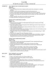Production Supervisor 2nd Shift Resume Samples Velvet Jobs