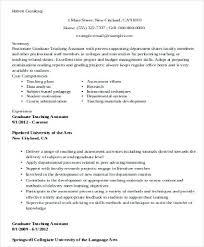 Sample Teacher Assistant Resume Sample Graduate Teaching Assistant Resume Example Mmventures Co