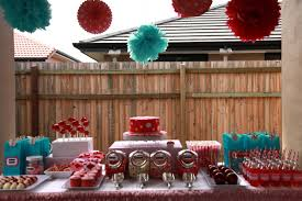 Outdoor Table Decor Decorations Outdoor Table Set For Garden Party With Country Red