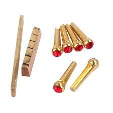 Bridge Pin Size Chart Miracle Shining Brass Saddle Nut Red Opal Bridge Pins Set