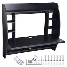 ebay home office. Wall Mount Computer Desk Mounted Floating With Storage Shelves Laptop Home Office Furniture Work Black Ebay