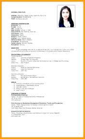 Sample Curriculum Vitae For Job Application Curriculum Vitae For Job Application Pdf Example Resume Sample