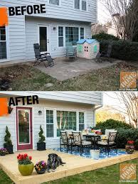 concrete slab patio makeover. Brilliant Patio Cheap Patio Makeover Ideas With Concrete Slab E