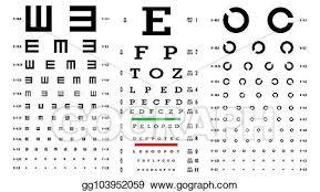 Eyesight Vision Chart Vector Art Eye Test Chart Vector Vision Exam Optometrist
