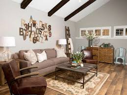 living room remarkable farmhouse living room decor grey painted wall wooden floor brown armchairs wooden