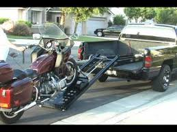 Rampage power lift Motorcycle Loader makes loading easy of a ...
