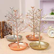 2019 jewelry holder jewelry organizer birds tree jewelry stand display for hanging earrings necklace bracelet rack tower from wfactory 11 01 dhgate