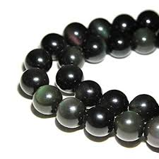 amazon jartc rare collection natural stone beads rainbow obsidian round loose beads for jewelry making diy bracelet necklace 6mm arts