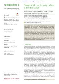 Pdf Phanerozoic P O 2 And The Early Evolution Of