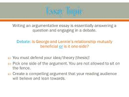 literary analysis essay writing an argumentative essay is  writing an argumentative essay is essentially answering a question and engaging in a debate